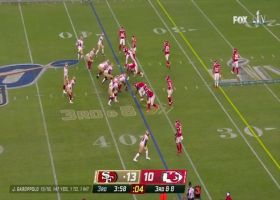 Jimmy G connects with Kendrick Bourne on third-down DIME