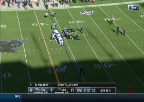 IT'S A FAKE! Panthers convert a GUTSY fake punt in own territory