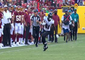 Ben Victor turns Tyler Huntley's improv throw into 30-yard gain