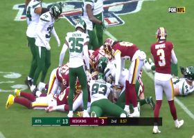 Redskins force fumble after Vyncint Smith body-surfs over pile of players