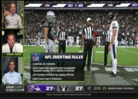 Russell Wilson joins Peyton and Eli Manning for full 'MNF' overtime