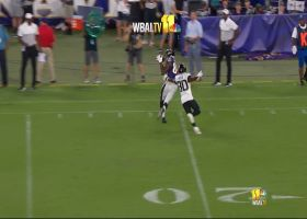 Miles Boykin twists body for smooth sideline grab