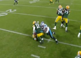 Derrick Brown dominates LG to down Aaron Rodgers for first NFL sack