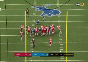 Prater drills 48-yard FG to give Lions the lead
