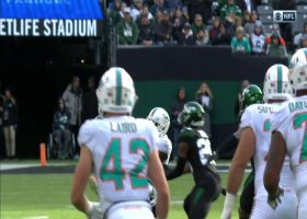 Nate Hairston picks off Fitzpatrick's laser in wild fashion