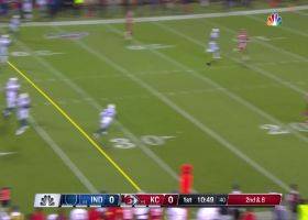 Mahomes slings crisp pass to Pringle for 28 yards
