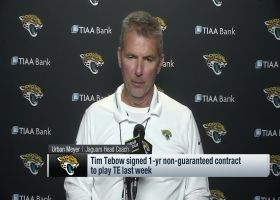 Urban Meyer evaluates Tim Tebow's progress at TE with Jags