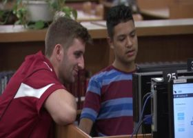 Arizona Cardinals quarterback Josh Rosen and defensive tackle Robert Nkemdiche introduced students to careers in technical field