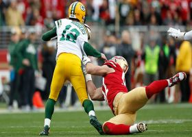 Nick Bosa, DeForest Buckner combine to sack Aaron Rodgers for big loss
