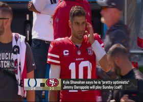 Rapoport: Garoppolo will play vs. Colts 'barring a setback'