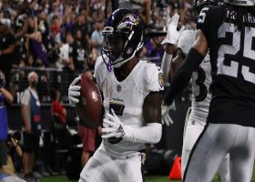Lamar Jackson scrambles, finds Hollywood Brown for TD in back of end zone