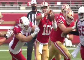 Zach Allen brings Jimmy G down for 4-yard loss on sack