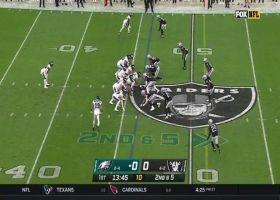 Dallas Goedert absorbs considerable contact on 24-yard grab