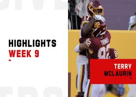 Every catch by Terry McLaurin, Cam Sims from huge day | Week 9
