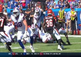 Preston Brown scoops up T.J. Yeldon fumble for Bengals