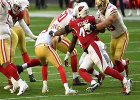 Cards collapse the pocket on C.J. Beathard for third-down sack