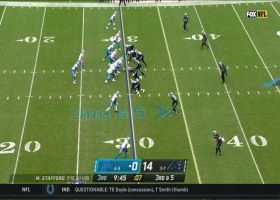 Matthew Stafford dots T.J. Hockenson for 19-yard sideline grab