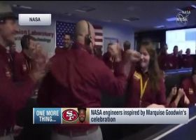 NASA engineers inspired by San Francisco 49ers wide receiver Marquise Goodwin's Week 3 touchdown celebration