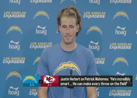 Justin Herbert on Mahomes: 'You can never outrun his arm'