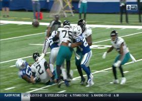 Darius Leonard brings the boom on impressive strip-sack on Mike Glennon