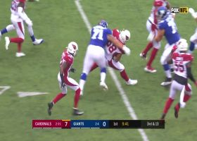 Cards make Daniel Jones pay for ill-advised throw into double coverage with INT