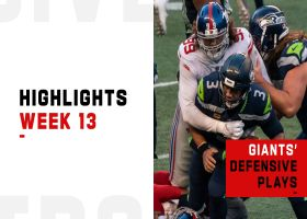 Giants' best defensive plays vs. the Seahawks | Week 13