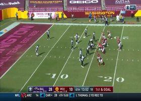 Jaylon Ferguson tracks down Haskins for HUGE 18-yard loss