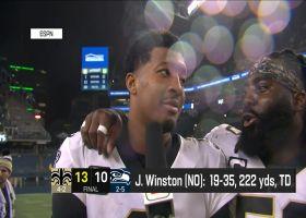 Jameis Winston, Demario Davis discuss Saints' win over Seattle
