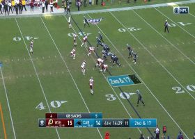 Matthew Ioannidis records the Redskins' FIFTH sack of the day