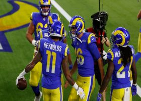 Rams' quick huddle break helps free up Reynolds for open TD from Goff