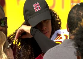 Sean Taylor's family emotional during jersey retirement