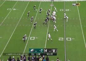 Quinton Jefferson forces Eagles fumble before half