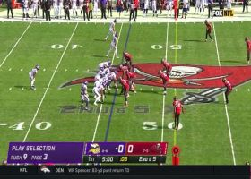 Adam Thielen's incredible route leaves him wide open for first-down catch