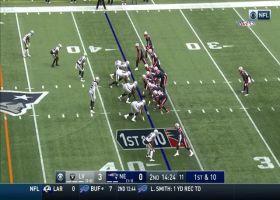 Cam Newton pinpoints Julian Edelman on deep cross for 15-yard gain