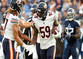 Trevathan snags red-zone INT after Barkley's pass goes right to him
