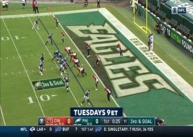 Sam Hubbard clamps down on Carson Wentz for third-and-goal sack