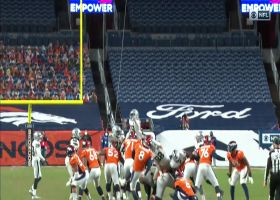 Raiders block McManus' 63-yard FG try to secure the win