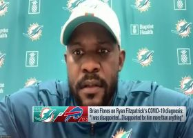 Brian Flores reacts to Ryan Fitzpatrick testing positive for COVID-19