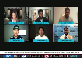 Darius Slayton gives play-by-play of announcing Giants' Round 2 draft pick