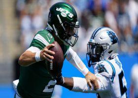 Brian Burns plants Zach Wilson in the turf for 9-yard sack