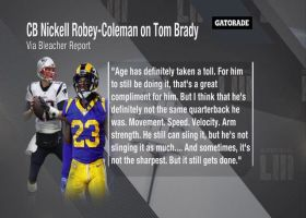 Los Angeles Rams cornerback Nickell Robey-Coleman: Tom Brady 'can still sling it, but he's not slinging it as much'