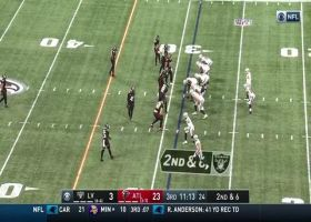 Carr throws a strike to Ruggs for 19 yards