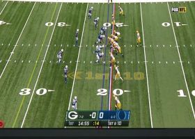 Rodgers dials up deep ball for 33 yards to Davante Adams on first play