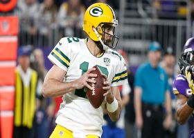 Rodgers climbs congested pocket, delivers 23-yard strike to St. Brown
