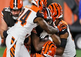 Nick Chubb muscles through barrage of defenders on physical TD run