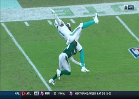 DeVante Parker absorbs major back contact on tough 18-yard grab