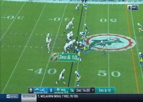 DeVante Parker elevates for outstanding 23-yard grab near the sideline