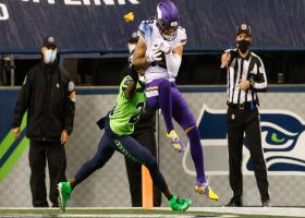 Adam Thielen beats holding penalty for contested TD grab