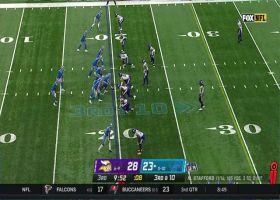 Harrison Smith jumps route to intercept Matthew Stafford's pass