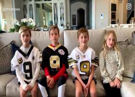 Drew Brees' kids announce dad's retirement through social media